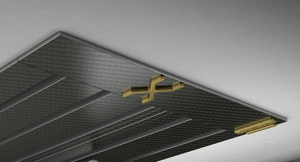 Endkappe X-rail Gold re Carbon 5-lfg (SD)