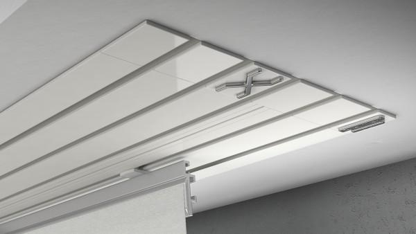 Endkappe X-rail Titan re Alu weiß 5-lfg (TB)