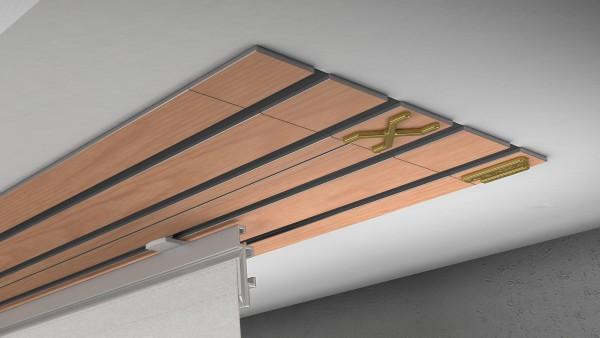 Endkappe X-rail Gold li RAL / Holz divers (auf Anfrage) 4-lfg (TB)