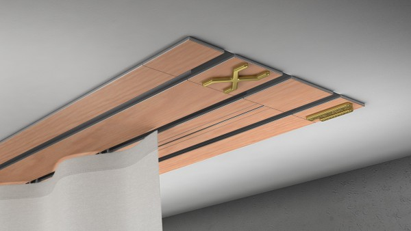 Endkappe X-rail Gold li RAL / Holz divers (auf Anfrage) 3-lfg (TB)