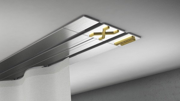 Endkappe X-rail Gold re Edelstahl 2-lfg (TB)