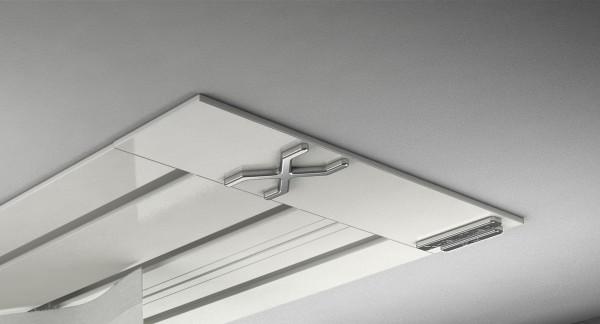 Endkappe X-rail Titan li Alu weiß 3-lfg (SD)
