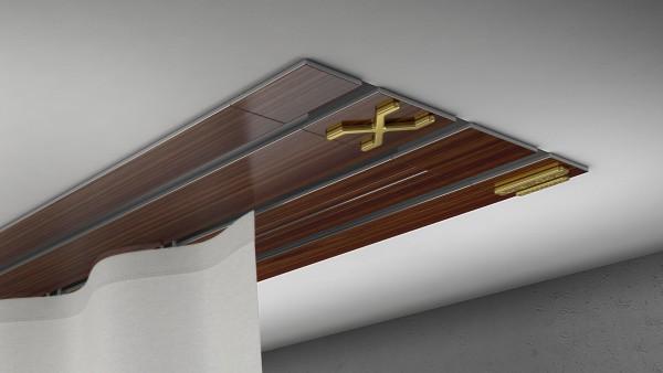 Endkappe X-rail Gold li Palisander 3-lfg (TB)