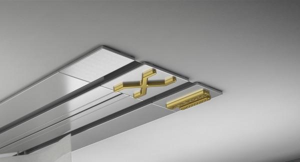 Endkappe X-rail Gold re Alu eloxiert 2-lfg (TB)