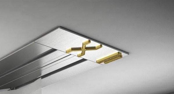 Endkappe X-rail Gold re Edelstahl 2-lfg (SD)