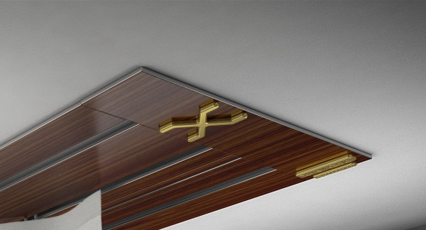 Endkappe X-rail Gold re Palisander 3-lfg (SD)