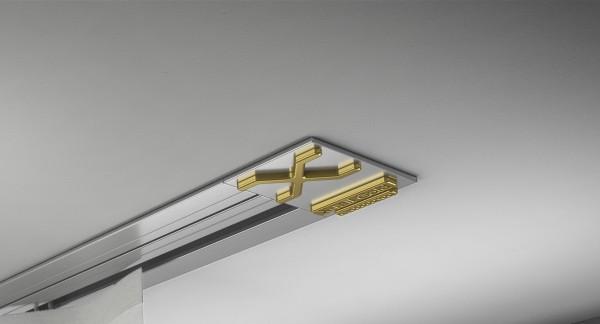Endkappe X-rail Gold re Alu eloxiert 1-lfg (SD)