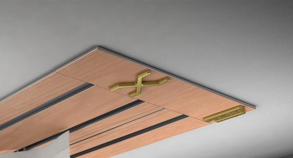 Endkappe X-rail Gold li RAL / Holz divers (auf Anfrage) 3-lfg (SD)