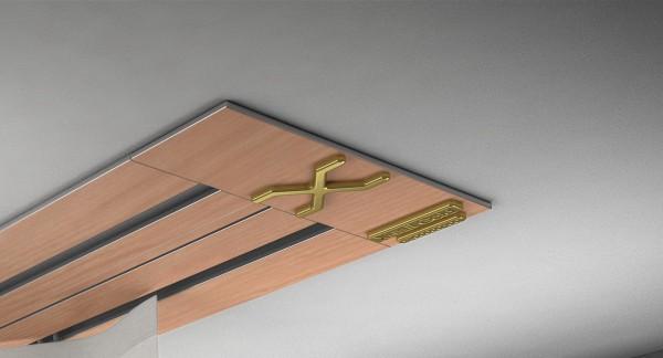 Endkappe X-rail Gold li RAL / Holz divers (auf Anfrage) 2-lfg (SD)
