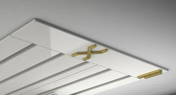 Endkappe X-rail Gold li Alu weiß 5-lfg (SD)
