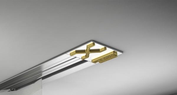Endkappe X-rail Gold re Edelstahl 1-lfg (SD)