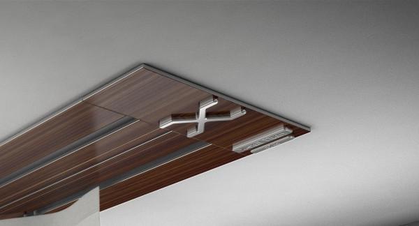 Endkappe X-rail Titan li Palisander 2-lfg (SD)