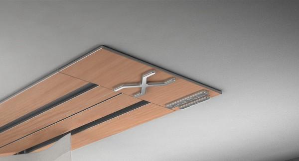 Endkappe X-rail Titan li RAL / Holz divers (auf Anfrage) 2-lfg (SD)