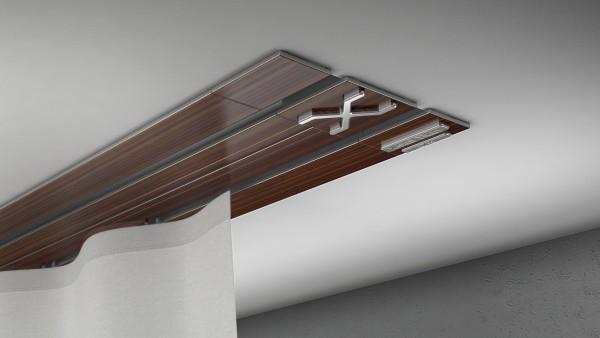 Endkappe X-rail Titan li Palisander 2-lfg (TB)