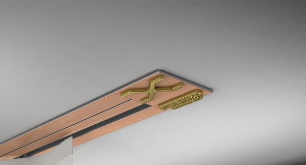 Endkappe X-rail Gold li RAL / Holz divers (auf Anfrage) 1-lfg (SD)