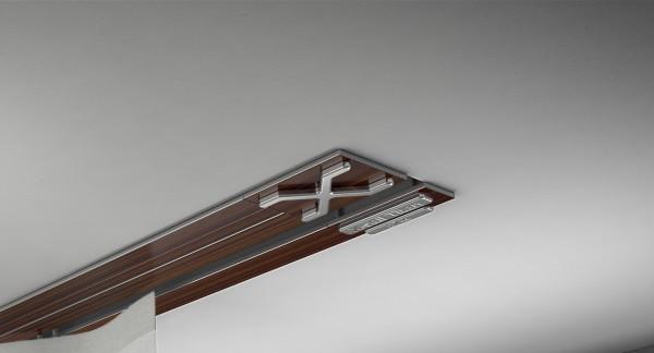 Endkappe X-rail Titan re Palisander 1-lfg (TB)