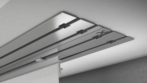 X-rail Basic Aluminium 4-läufig | cm