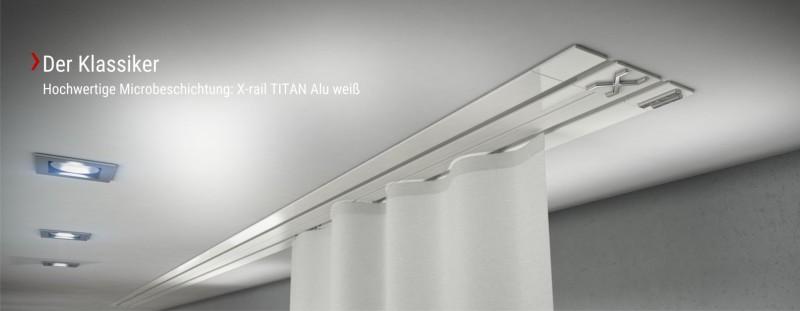 Der Klassiker Einbauvorhangschiene X-rail TITAN weiß