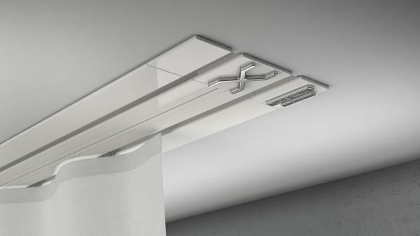 Endkappe X-rail Titan re Alu weiß 2-lfg (TB)