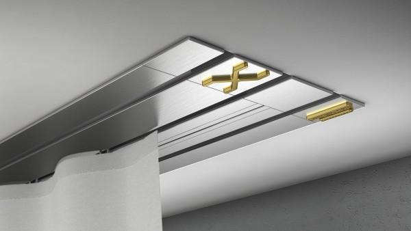 Endkappe X-rail Gold re Edelstahl 3-lfg (TB)