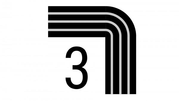 Durchschleuderbogen in Ecke X-rail Palisander 90° 3-lfg