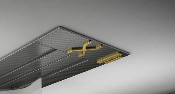 Endkappe X-rail Gold re Carbon 2-lfg (SD)