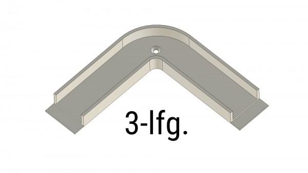 Montageprofil Durchschleuderbogen X-rail Alu eloxiert 90° 3-lfg [MP]