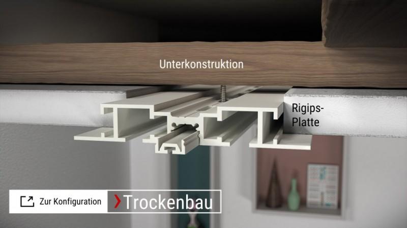 Zur Konfiguration X-rail TITAN Alu weiß Trockenbau