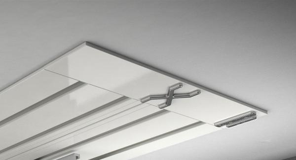 Endkappe X-rail Titan re Alu weiß 4-lfg (SD)