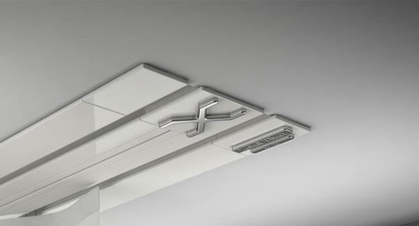 Endkappe X-rail Titan li Alu weiß 2-lfg (TB)