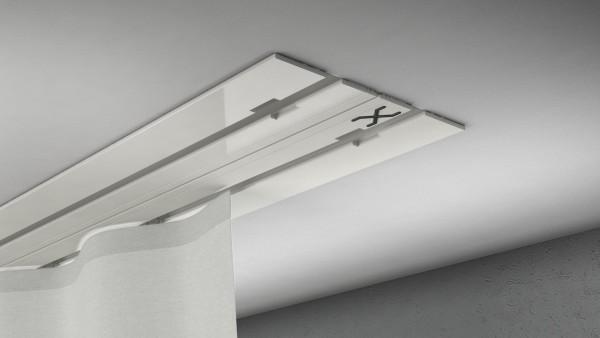 X-rail Basic Alu weiß 2-läufig |cm