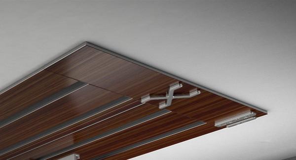 Endkappe X-rail Titan li Palisander 4-lfg (SD)
