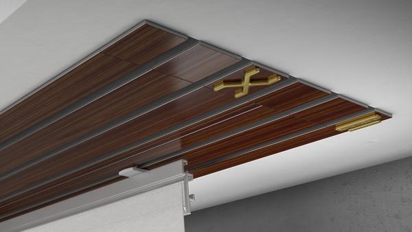 Endkappe X-rail Gold re Palisander 5-lfg (TB)
