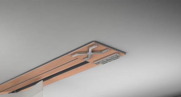 Endkappe X-rail Titan re RAL / Holz divers (auf Anfrage) 1-lfg (SD)