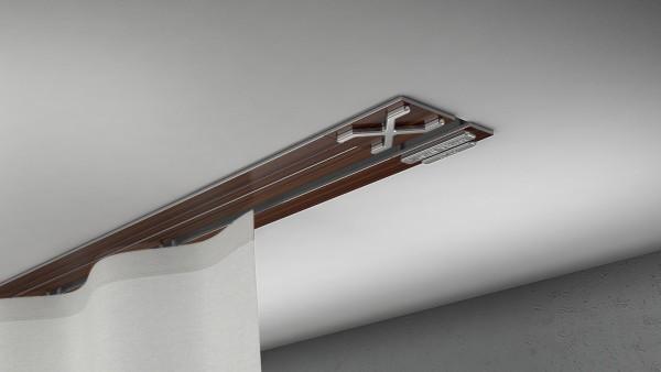 Endkappe X-rail Titan li Palisander 1-lfg (TB)