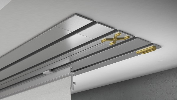 Endkappe X-rail Gold re Alu eloxiert 4-lfg (TB)