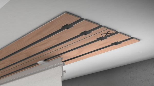 X-rail Basic RAL / Holz divers (auf Anfrage) 4-läufig |cm