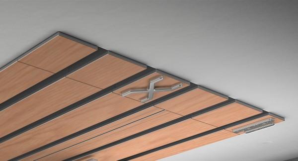 Endkappe X-rail Titan re RAL / Holz divers (auf Anfrage) 5-lfg (TB)