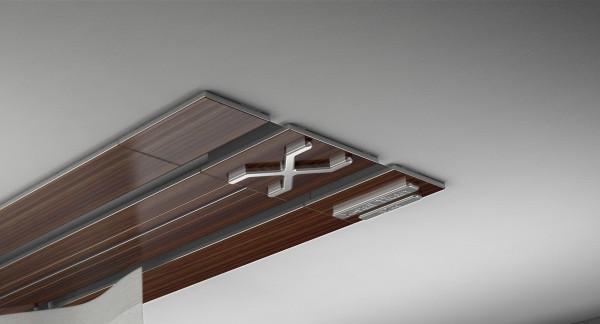 Endkappe X-rail Titan re Palisander 2-lfg (TB)