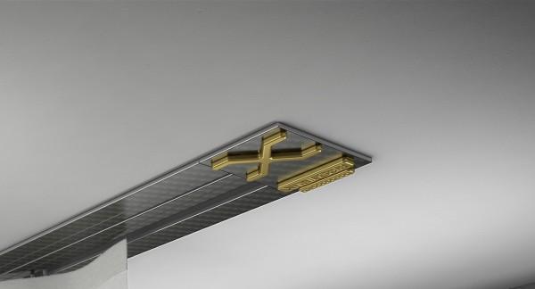 Endkappe X-rail Gold re Carbon 1-lfg (SD)