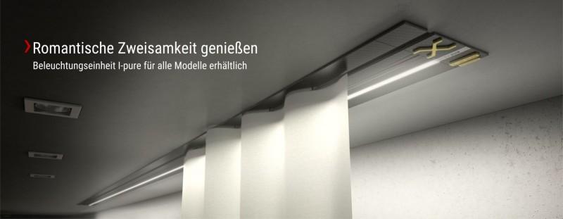 Design Award Gewinner Einbauvorhangschiene X-rail TITAN Edelstahl