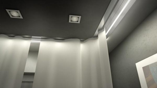 Beleuchteter-Durchschleuderbogen-an-einer-Vorhangschiene