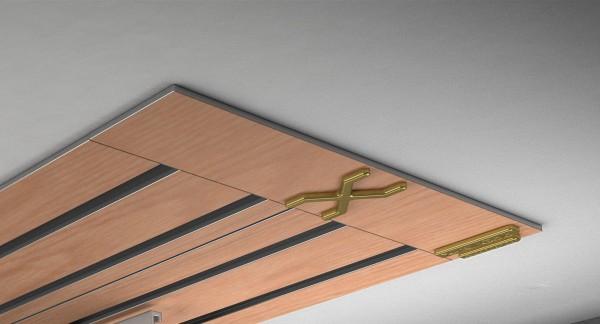 Endkappe X-rail Gold li RAL / Holz divers (auf Anfrage) 4-lfg (SD)