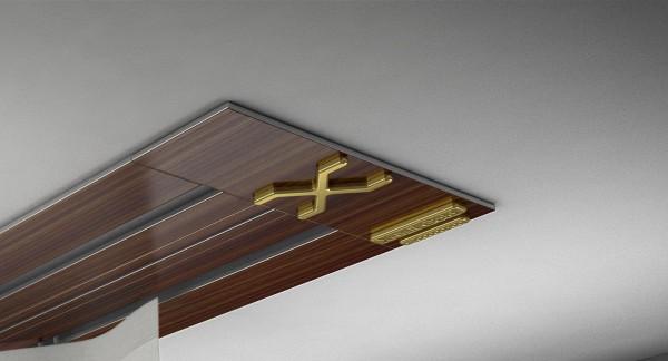 Endkappe X-rail Gold li Palisander 2-lfg (SD)