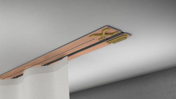 Endkappe X-rail Gold li RAL / Holz divers (auf Anfrage) 1-lfg (TB)