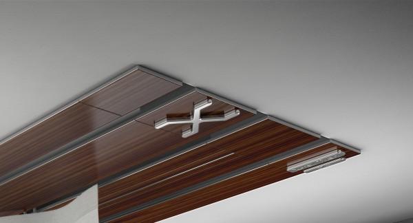 Endkappe X-rail Titan re Palisander 3-lfg (TB)