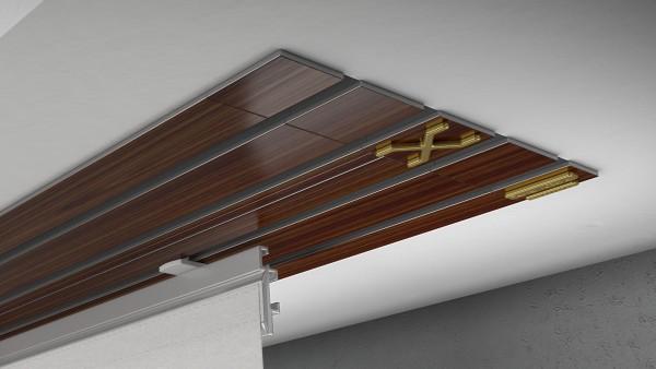 Endkappe X-rail Gold re Palisander 4-lfg (TB)