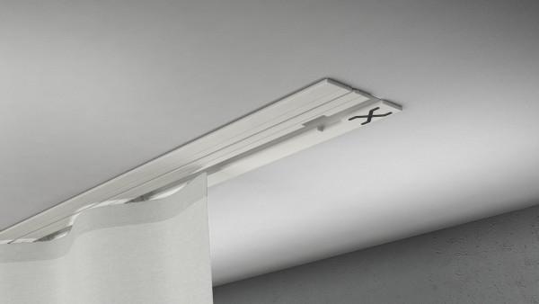 X-rail Basic Alu weiß 1-läufig  cm