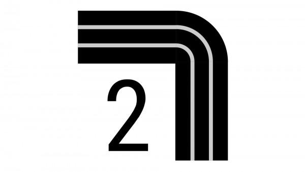 Durchschleuderbogen in Ecke X-rail Palisander 90° 2-lfg