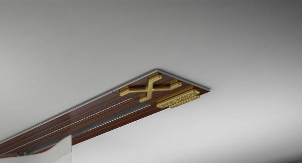 Endkappe X-rail Gold re Palisander 1-lfg (SD)